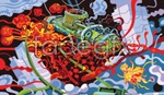 Link toScience fiction submarine abstract paintings vector