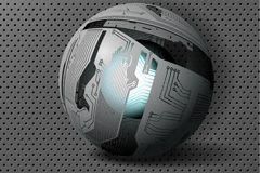 Link toScientific and technological sphere vector background
