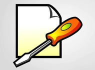 Screwdriver icon vector free