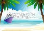 Link toSea cruises vector