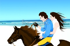Link tovector lovers mercedes-benz horse Sea