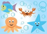 Link toSea life vector cartoons free