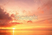 Link toSea sunset rosy clouds hd photo