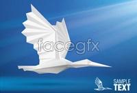Seagull paper-cut vector