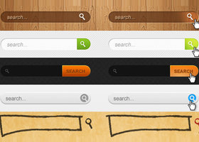 Link toSearch boxes psd