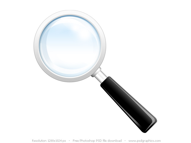 Link toSearch icon, psd magnifying glass