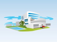 Link toSeaside hotel vector free