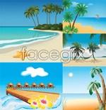 Link toSeaside scenery vector