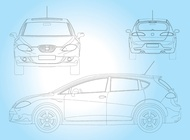 Link toSeat leon car vector free