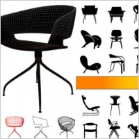 Link toSeat silhouette vector