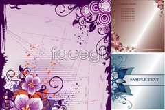 Section 3 patterns and stationery vector