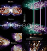 Link toSense of space grid background vector
