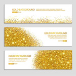 Sequins and gold banne vector