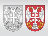 Link toSerbia coat of arms vector free