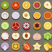 Link toSet of best food icons vectors graphics 04 free