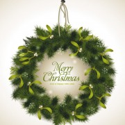 Link toSet of christmas pine needles backgrounds vector 02
