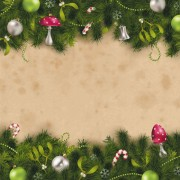Link toSet of christmas pine needles backgrounds vector 04