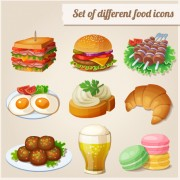 Link toSet of different food icons vector free