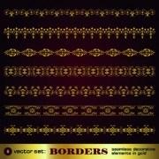 Link toSet of golden borders vector 01