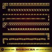 Link toSet of golden borders vector 02