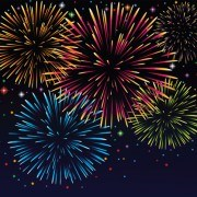 Link toSet of holiday fireworks design vector 20