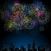 Link toSet of holiday fireworks design vector 26
