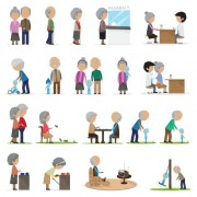 Link toSet of old people vector design 01 free