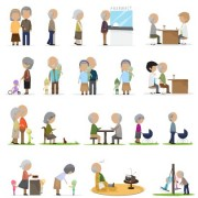 Link toSet of old people vector design 02 free