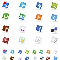 Link toSet of social icons icons pack