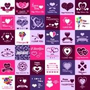Link toSet of valentines logos vector 02
