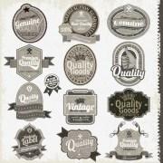 Link toSet of vintage badges 038 labels vector 02