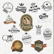 Link toSet of vintage badges 038 labels vector 04