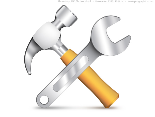 Link toSettings icon, psd hammer and wrench