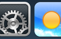 Link toSettings, weather, phone ios icons psd