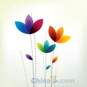 Link toSeven-color flower vector free