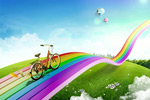 Link toSeven color rainbow road psd
