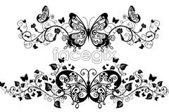 Link toSeveral beautiful butterfly pattern eps vector