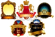 Link toSeveral beautiful continental label vector