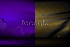 Several beautiful fantasy cloth background vector