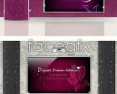 Link toSeveral beautiful fantasy wall color background vector