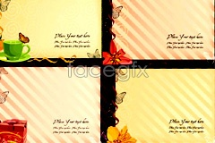 Link tovector template stationery style vintage beautiful Several