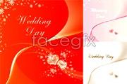 Link toSeveral beautiful wedding invitation card vector