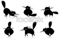 Link toSeveral cartoon kitten sketch vector graphics