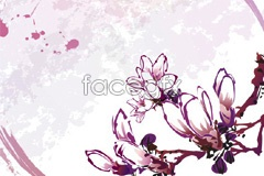 Link tovector background flower hand-painted classic Several