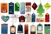 Link toSeveral different shapes personality tag vector