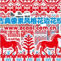 Link toSeveral european classical style lace pattern pixel pattern