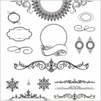 Link toSeveral europeanstyle lace pattern vector