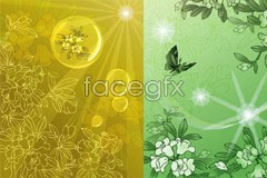 Link toSeveral fantasy flower pattern backgrounds in traditional vector