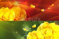 Link toSeveral fantasy romantic flower background vector