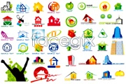 Link toSeveral house theme graphic design logo vector